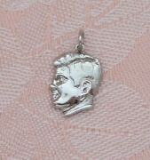 Vintage John F. Kennedy Profile Ask Not Quote 2 Sided Sterling Silver Charm