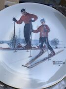 1980 Gorham Norman Rockwell Four Seasons Limited Ed.collector Plates Set Of 4