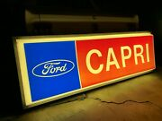 Large Lighted Ford Capri Dealership Sign 4 X 7 Feet 70and039s Garage