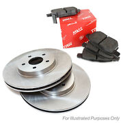 Genuine Trw Rear Vented Coated Brake Discs And Low Dust Brake Pads