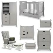 Obaby Stamford Luxe 7 Piece Room Set Warm Grey - Suitable From Birth