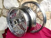 21x2.15 And 18x8.5 80 Spoke Wheel Set For Harley Choppers