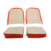 Seat Cover Assembly Left And Right Light Gray And President Red 1957-1964 Cj3...