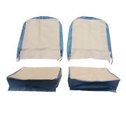 Seat Cover Assembly Left And Right Light Gray And Gulf Blue 1957-1964 Cj3b And ...