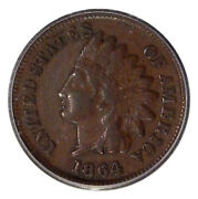 1864-l 1c Icg Ef-45 S-1 Fs-2301 Neat Indian Cent Rpd Variety