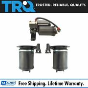 Trq 3pc Air Suspension Kit Rear Air Spring And Compressor For Expedition Navigator