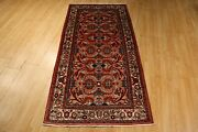 Estate Circa 1950 4x6 Fine Lovely Rectangle Handmade-knotted Wool Rug 583473