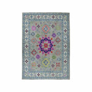 9and0392x11and0397 Colorful Fusion Kazak Pure Wool Hand-knotted Oriental Rug R50673