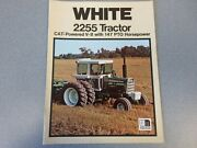 Rare White 2255 Cat Powered V8 Tractor Sales Brochure