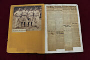 1929 Baseball Scrapbook Babe Ruth 500 Hr 33 Pages Vintage News Box Scores Nice