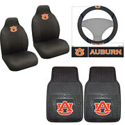 5pc Ncaa Auburn Tigers Front Seat Covers Floor Mats And Steering Wheel Cover