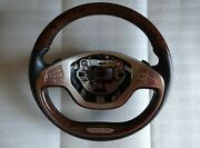 Mercedes W222 S Class Wood - Black Leather Multifuction Steering Wheel