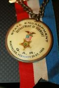 Gar State Encampment Committee Ribbon And Medal 1908 Montpelier Vermont