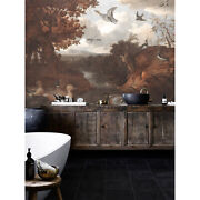 Ducks And Other Birds Vintage Painting Old School Removable Wallpaper Painted