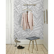 Minimal Lines Removable Wallpaper Black And White Wall Mural Peel And Stick