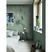 Leaf Removable Wallpaper Gray Wall Mural Photo Home Decor