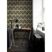 Abstract Art Deco Modern Tiles Self-adhesive Golden And Black Wall Photo Mural