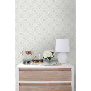 Floral Ornament Wedding Self-adhesive Gray And White Wall Mural Design