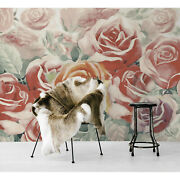 Wall Mural Colorful Bunch Of Roses In The Garden Watercolor Floral Nursery Decor