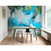 Wall Mural Coconut On The Beach Beach Paradise Palm Trees Exotic Leaves Art