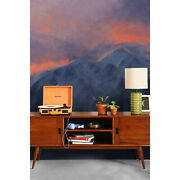 Wall Mural Sticker Dramatic Mountains In The Evening Painting Landscape Art