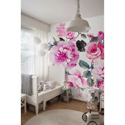 Wall Mural Elegant Flowers And Leaves Garden Floral Art Removable Wallpaper