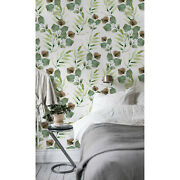 Removable Wallpaper Autumn Leaves Self Adhesive Exotic Palm Home Decor