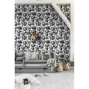 Sport Removable Wallpaper Black Wall Mural Reusable Self Adhesive Peel And Stick