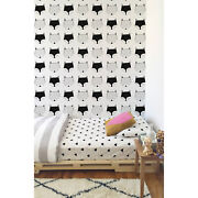 Foxes Removable Wallpaper White Wall Mural Reusable Self Adhesive Peel And Stick