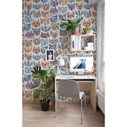 Cute Watercolor Cats Abstract Removable Wallpaper Wall Mural Decal