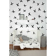 Hand Drawn Cross Brush Removable Wallpaper Wall Mural Home Decor Decal