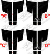 Fits 2015 - Up Dodge Challenger 10 Piece Rally Stripe Decal Kit