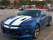 Fits 2016 - 2018 Camaro Ss Coupe Factory Style Rally Stripes