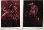 G.h Rothe Competitors Mezzotint Horses 2 Plates Hand Signed Make An Offer