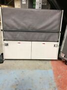 Boeing Fa Crew Jump Seat American Airlines United Leather Blue Gray Tiny House