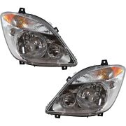 Headlight Set For 2007-2009 Dodge Sprinter 2500 Left And Right Side W/ Bulb