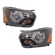 Headlight For 2015-2017 Ford Transit-250 Pair Driver And Passenger Side