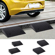2pcs Heavy Duty Curb Ramps Rubber Trailer Car Scooter Driveway Vehicle Pass