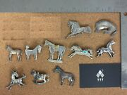 Vintage Southwestern Sterling Silver Horse Brooch Lot 1 - Individually On Req.