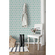 Mint Hill Rows Non-woven Wallpaper Blue And White Wall Mural Wall Decor