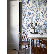 Herbs Leafs Non-woven Wallpaper Nursery Easy On Home Wall Mural Decal