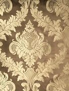 Rubelli San Marco Crinkled Damask Large Scale Brown Gold New 16+ Yards
