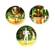 Set Of 3 Knowles Wizard Of Oz Collector Plates By James Auckland 1978