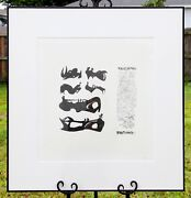 Henry Spencer Moore Vintage Mid-century Modern Lithograph Signed And Le Numbered