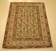 Pre 1900and039s Antique Caucasian Shirvan Rug 3.6x4.7 From A Private Collection