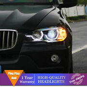 For Bmw X5 E70 Headlights Double Lens Beam Projector Hid Led Drl 2007-2013