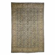 7and039x10and0396 Antique Farsian Tebraz Full Pile Exc Condition Hand Knotted Rug R46016