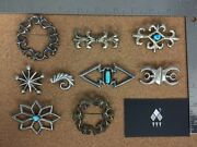 Vintage Southwestern Sterling Silver Cast Brooch Lot 1 - Individually On Req.