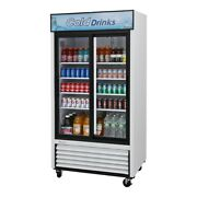 Turbo Air Tgm-35r-n 41 Two Section Merchandiser Refrigerator With Glass Door...