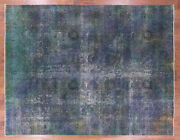 9' 6 X 12' 7 Overdyed Hand Knotted Wool Rug - Q2403